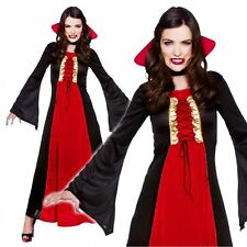 Bloodthirsty Ladies Halloween Fancy Dress Womens Adults Vampire Costume Outfit