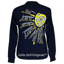 "Girlie Girl Originals ""Salvation"" Long Sleeve Navy Unisex Fit T-Shirt"