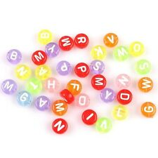 Distinctive Assorted Colors Carved Letters Plastic Spacer Beads Accessories