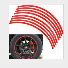 Hot 16 Strips Wheel Sticker Reflective Rim Stripe Tape Bike Motorcycle Car Tape