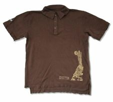 Led Zeppelin Stairway to Heaven Image Brown Polo Shirt Distressed NEW