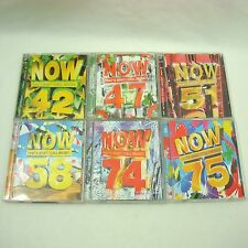 NOW THATS WHAT I CALL MUSIC 42 47 51 58 74 75  CD Albums **12 Discs **