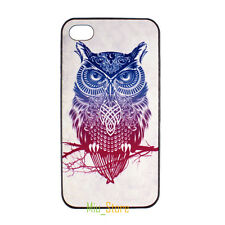 Cute Owl Twig Designer Paint Hard Back Case Cover Skin for Apple iPhone 4 4S 5