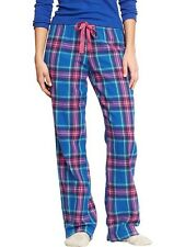 NWT WOMENS OLD NAVY BLUE PINK PLAID FLANNEL LOUNGE WINTER PAJAMA PANTS XS S M