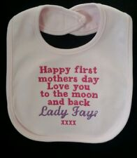 Personalised Baby Gifts-Bibs-Happy first mothers day. Gift/present