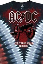 AC DC-CANNON V DYE-TIE DYE TSHIRT M-L-XL-XXL FOR THOSE ABOUT TO ROCK- Angus- NEW