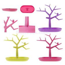 Plastic Jewelry Necklace Ring Earring Tree Stand Display Organizer Holder Show