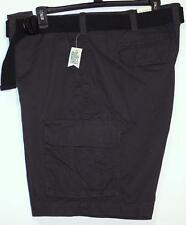 NWT Men's Sonoma Belted Cargo Shorts Big & Tall Size 46 48 Solid Pepper Gray