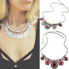 Charm Choker Chain Pendant Bib Statement Women Jewelry  Chunky Necklace Bohemia