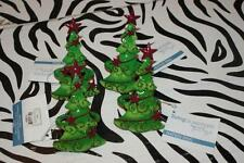 "Living Quarters Metal ""Christmas Tree"" Napkin Rings (set of 4) - NEW with TAG!"