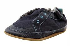 Robeez Mini Shoez Infant Boy's Stylish Steve Navy Canvas Sneakers Shoes