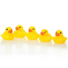 1/5/10/20Pc Yellow Baby Puzzle Gift Bath Toys Cute Rubber Tweak Squeaky Duck New