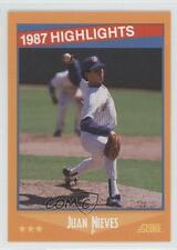 1988 Score #655 Juan Nieves Milwaukee Brewers Baseball Card 0c4