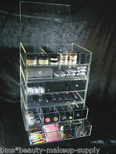 Acrylic Makeup Organizer Drawers Customized Stackable Cosmetic Storage Box