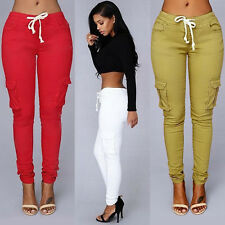 Women Casual Pencil Stretch Skinny Pants Sexy High Waist Jeans Trousers Popular