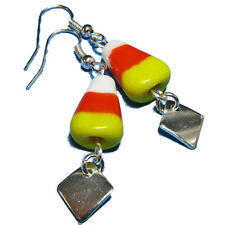 Halloween Lampwork Glass Candy Corn Bead Earrings By SoniaMcD