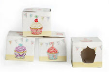 2.4.12. PCS CUPCAKE CUP FAIRY CAKE MUFFIN BOXES W CLEAR WINDOW GIFT BOX BK0006