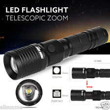 5000LM Super Bright Zoomable CREE XM-L LED 18650 Tactical Flashlight Torch Light