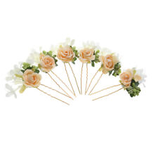 6Pcs Wedding Bridal Party Flower Hair Clips Hairpin Flower Fairy Bobby Pins