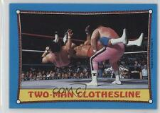 1987 Topps WWF #22 Jim The Anvil Neidhart Bret Hart Rookie Wrestling Card 1c7