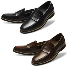Mooda Mens Leather Loafer Shoes Casual Formal Lace up Dress Shoes Sugar AU