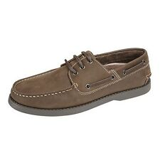 Dek Mens Leather Moccasin Boat Shoes UTDF700
