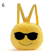 Lovely Baby Kid Expression Plush Toys Bags Yellow Girls Boy Children's Backpack