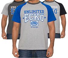 Mens Ecko Unlimited Crew Neck Cotton T-Shirt Summer Top Custom In 3 Colours