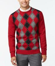 GEOFFREY BEENE Red Wine Argyle Mens SWEATER S M L XL XXL new with tags