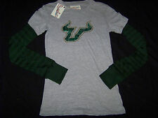 Pressbox Women's University of South Florida USF Bulls Long Sleeve Shirt NWT