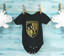 Harry Potter inspired Hufflepuff green 100% Cotton baby grow body suit.