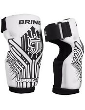 Brine Uprising Lacrosse Arm Pads – Adult M & XS White/Black