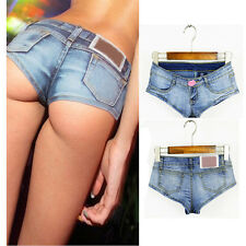 Fashion Korean Women Sexy Denim Jeans Shorts Low Waist Short Hot Mini Pants Slim