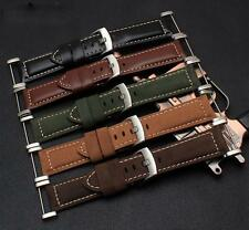 NEW Genuine Leather Watch Replacement Band Strap + Lugs Adapters For Suunto Core