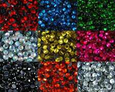 Loose Rhinestones lot Hot Fix Iron on 6mm (SS30), 10 Colors to choose from