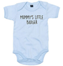 BADGER BODY SUIT PERSONALISED MUMMY'S LITTLE BABY GROW NEWBORN GIFT