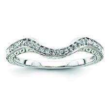 Sterling Silver Sterling Silver Belle Amore Diamond Wedding Band Ring QR3485