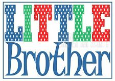 IRON ON TRANSFER or STICKER - LITTLE BROTHER - POLKA DOT T-SHIRT TRANSFER BIG