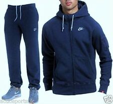 New Men's Nike Foundation Navy Tracksuit Full Hoody & Full Jogging Pants