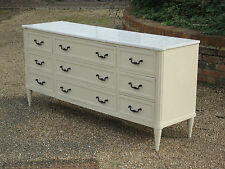 FAB VINTAGE SHABBY CHIC FRENCH MARBLE TOP SIDEBOARD CHEST OF DRAWERS