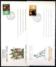 RHODESIA 5 DIFF 1967-69 FDC CACHETED UNADDRESSED