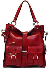 Floto Imports Livorno Handbag Shoulder Bag w/ Crossbody Strap, Italian Leather