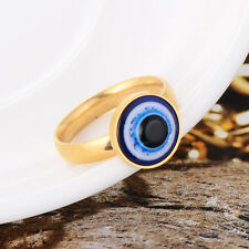 Punk Cosplay Womens Mens Stainless Steel Eyeball Ring Size 6/7/8/9/10/11