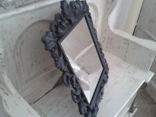 shabby chic free standingblack  mirror could also be hung brackets included 19