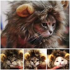 Super Cute Furry Pet Hat Costume Lion Mane Wig For Cat Halloween Dress Up Party
