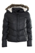 Women's Puffer Jacket Coat Ladies Faux Fur Sherpa Hooded Padded Quilted Winter J