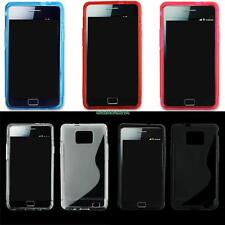For Galaxy S2 S II Samsung i9100 Silicone Cover Jelly Protector Back Case Skin