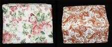 Waverly Pink Shabby Roses or Rust Jacobean Paisley 4Pc Flannel Sheet Set NIP