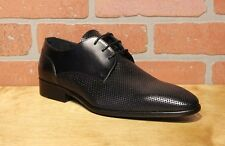Calzoleria Toscana Men's Oxford Black Leather Dress Shoes Made in Italy Z190