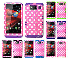 KoolKase Hybrid Cover Case for Motorola Droid Razr Maxx HD XT926m DOTS Pink